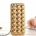 Luxury Unique 3D Heart shinning Soft case Cover for Apple iPhone7/7 plus/6/6S