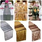 "12""x118"" Wedding Table Decoration Gold Sequin Table Runner Wedding Party Decor"