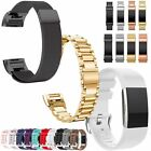 Replacement Stainless Silicone Milanese Bracelet Watch Band For Fitbit Charge 2