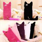 New Cute Pink Cat With Tail Soft Protect Case For iPhone 7 6 6 Plus 5 5s 4 4s