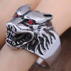 316L Stainless Steel Various styles  Men Wolf Head Biker Ring Jewelry Size 8-13
