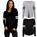 Fashion Womens Long Sleeve Shirt Casual Loose Cotton Tops T Shirt New Blouse New