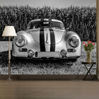 car pictures wallpaper - Classic Race Car Wall Mural Black & White Vintage Photo Wallpaper Home Decor