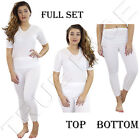 New Ladies Long Johns Women Winter Warm Thermal T Shirt Warmth Lace Bottom Top