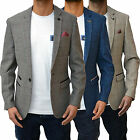 New Mens Marc Darcy Designer Dion Checkered Dinner Jacket Blazer Suit