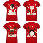 UNISEX MEN'S WOMEN'S LADIES CHRISTMAS NOVELTY PENGUIN SNOWMAN SANTA T-SHIRT TOP