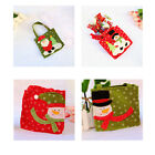 Christmas Gift Tote Bag Red Color Kids Holiday Party Favor Gift Bags Xmas