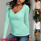 Kyпить Women's Fashion Casual Long Sleeve Shirt V-Neck Blouse Ladies Slim Casual Tops на еВаy.соm