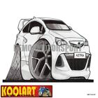 Koolart Cartoon Opel Vauxhall Astra J OPC VXR White - Mens Gifts (3160)