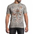 AFFLICTION Mens T Shirt Tribus Rust Live Fast A13624