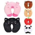 Cartoon U Shaped Neck Travel Pillows Automatic Neck Support Head Rest Cushion