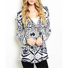 Urban Boho Fair Isle Nordic Double Breasted Knit Fringe Sweater Jacket Top S M L
