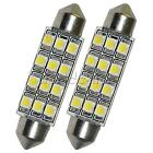 4PCS Car Dome 12 LED 3528-SMD  Bulb Light Interior Festoon Lamp 42mm White  W