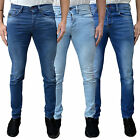 Mens Voi Skinny Fit Stretchable Denim Designer Stonewash Slim Stretch Jeans