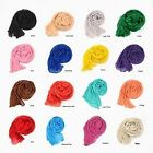 Fashion Women's Pure Long Crinkle Soft Scarf Girl's Voile Stole Shawl Wrap New