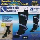 Unisex Miracle socks flight travel hospital compression sox soothe achy leg feet