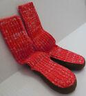 NEW Baby Gap Red christmas slipper shoes socks combo boys shoe size M 7 8 L 9 10