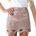 Fashion Lady/Women High Waist Sequins Hollow Silm Holiday Party Mini Skirts