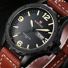 NAVIFORCE Fashion Quartz Watch Date Day Men Leather Sport Analog Wrist Watches