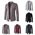 Mens Casual Cardigan Sweater Slim Knit Jacket Sweaters Knitted Outwear Overcoat