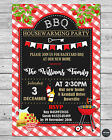 BBQ HOUSEWARMING PARTY PERSONALISED INVITATION INVITE CARD BARBECUE BIRTHDAY