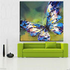 Hand Painted Canvas Oil/Acrylic Painting Wall Art Decor Butterfly with frame