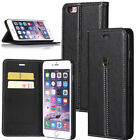 For Apple iPhone 6S Plus Luxury Leather Wallet Card Holder Flip Stand Case Cover