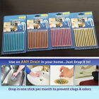 1/2/4 pack Clean Sticks Drain Cleaner and Deodorizer, Unscented 12 stick / W4B0
