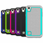 Hybrid Case For LG Tribute HD LS676 Shockproof Dual-layer Protective Phone Cover