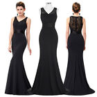 Formal Womens Cocktail Prom Evening Gowns Lace Wedding Party Dresses Long Dress