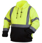 High Visibility Hooded Sweatshirt Class 3 Safety Hoodie Hi Vis viz lime