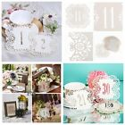 Ivory Laser Cut Place Table Numbers 1-10-20-30 Cards Wedding Birthday Decor New