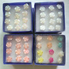 Bulk 6Pairs / Box Fashion Rose Flower Stud Earrings For Women Girls Party  Gifts