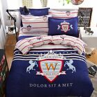 Single Queen Double Size Bed Set Pillowcase Quilt Duvet Cover Lorem Ipsum L