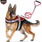 dog harnesses for pulling - No Pull Freedom Dog Harness Training Walking with Leash Set For Large Medium Dog