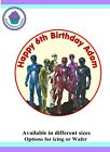 Power Rangers Design Icing or Wafer paper Toppers for large Cake VARIOUS SIZES