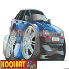 Koolart Cartoon Ford Escort Mk4 Mark 4 Blue - Mens Gifts (1238)