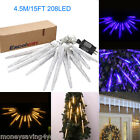 Safe Voltage 15FT 208LED 16Droop Wave-Type Icicle Falling Fairy String Light