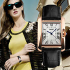SKMEI Classic Women's Gold Dial Roman Analog Leather Quartz Watch Ladies Dress