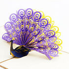 3D Peacock Greeting Card Paper Cutting Valentine Gift Wishs Invitation Card Chic