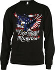 God Bless America American Eagle Flag USA United States Long Sleeve Thermal