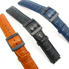 Leather Watch Strap Band To Fit Swatch 17mm Fine Croc Grain By CONDOR  SC10