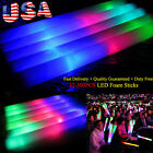 60-600 PCS Light-Up Foam Sticks LED  Flashing Wands Rally Batons Glow Stick