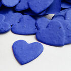 Royal Blue Heart Shaped Wildflower Seed Recycled Paper Eco Plantable Confetti