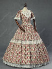 Victorian Southern Belle Maiden Prairie Dress Reenactment Theater Clothing N 168