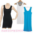 Womens Candy Color Waistcoat Skinny Vest Sleeveless Dress T-Shirt Slim Tank Top