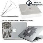"New Glossy Clear Hard Case Shell Laptop Decal Sticker Macbook Pro 13/15"" Air 13"""