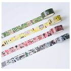 Map Style Washi Tape Simple Pattern Masking Sticker Scrapbooking Deco Gift Wrap