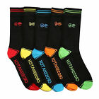 Crosshatch Chevy 5 Pack Multi Dress Socks - Black