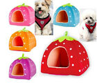 Soft Strawberry Pet Dog Cat Bed House Kennel Cushion Basket Free Shipping HT